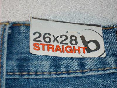 Bullhead Low Rise Straight Leg Boys Denim Jeans Size 26 X 28
