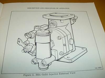 Bendix RSA-5 and RSA-10 Fuel  Injection Operation & Service Manual