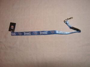 Football-Tennessee-Titans-NFL-Lanyard-22-Key-Chain-ID-Holder-NWT