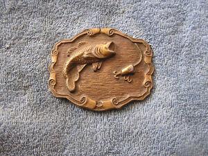 Vintage belt buckle with fish and hook ebay for Fish hook belt