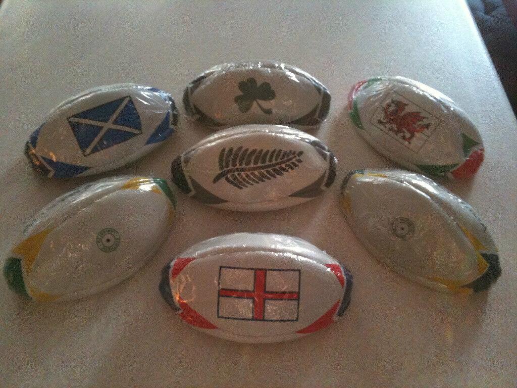 International Mini Rugby Balls - England/scotland/wales/ireland/australia/s.a/nz