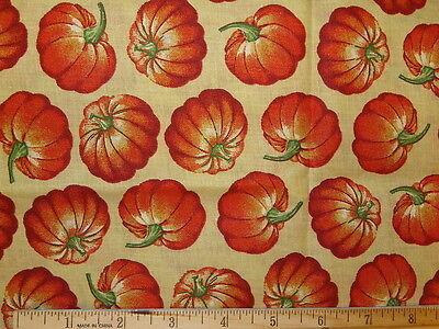 Bountiful Harvest Pumpkins 1 Yard X 44 Fabric-l57