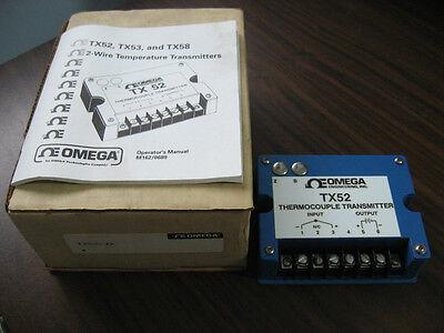 New Omega Tx52 Thermocouple Transmitter Tx52-j2