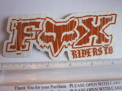 "ONE - 5"" FOX RACING Chucky Orange MX Head Mountain ride Bike Frame Sticker Decal"