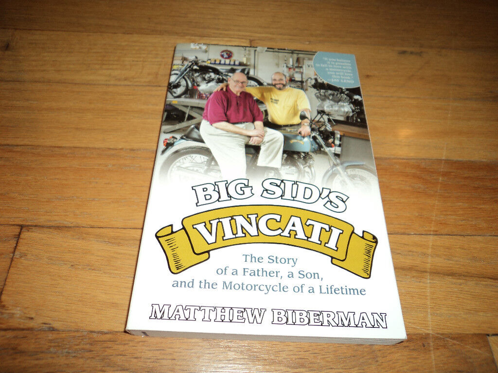 Big Sid's Biberman Vincati Motorcycles Thumbs Up From Jay Leno Mark Knopfler