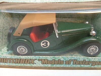 1977 Matchbox Lesney Models Of Yesteryear 1:35 Scale Y-8 Green 1945 Mg Tc