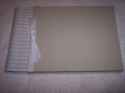 Penny Laine Guest Book, Tan, Fabric Covered, 9 X 6 40 Pages