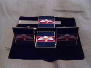 Guards-Para-TRF-Cufflink-Tie-slide-lapel-pin-set-Household-Division-wings