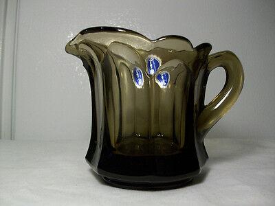 Vintage Imperial Glass Co. - Old Williamsburg Pattern Creamer - Verde Green