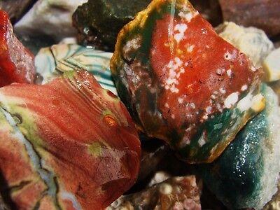 1000 Carat Lots of Ocean Jasper Rough + a FREE Faceted Gemstone