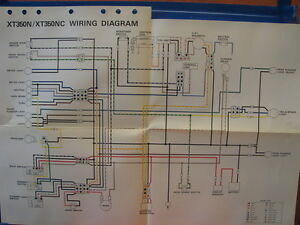 yamaha factory wiring diagram 1985 xt350 n xt350 ebay. Black Bedroom Furniture Sets. Home Design Ideas
