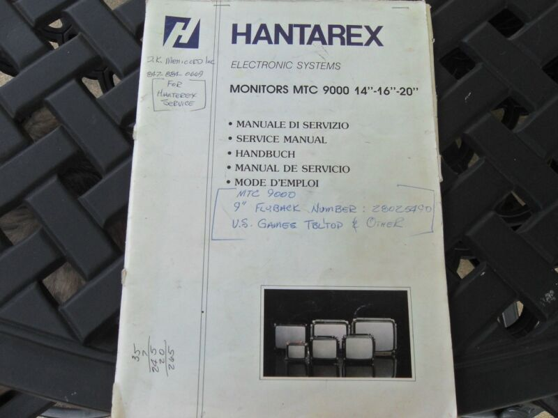 "HANTAREX Service Manual for Monitors MTC 9000, 14"",16"",20"""