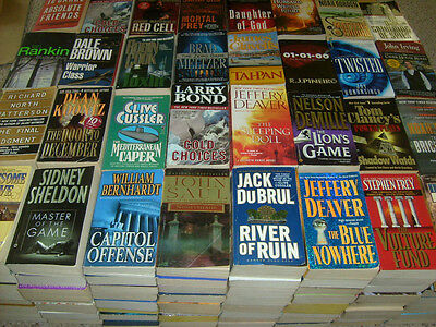 Lot of Fiction Paperbacks - MALE AUTHORS ONLY- 5 lbs FREE SHIPPING