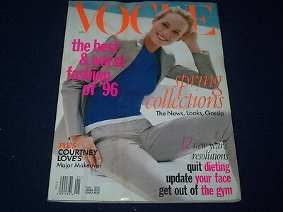 1997 January Vogue Magazine   Amber Valletta   Fashion Super Models   F 756