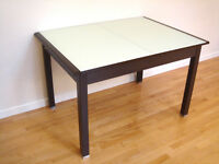 Contemporary Modern Style Dining Table w/ Extentions
