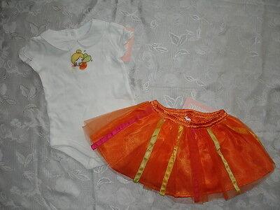 Baby Girls GYMBOREE FAIRY FLORAL Outfit Bodysuit & Tutu Skir