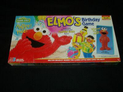 Elmo's Birthday Game Milton Bradley 1997 Factory Sealed