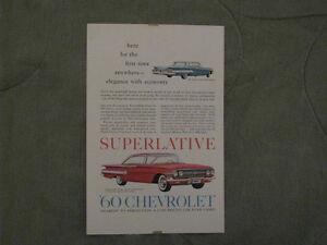 1960 Chevrolet Original Ads.