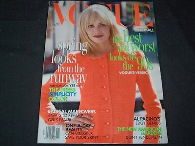 1996 January Vogue Magazine   Amber Valletta   Fashion Super Models   F 787