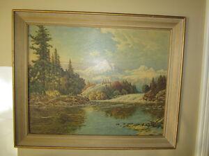 Copie d'une toile du peintre Frédérick D.Ogden.