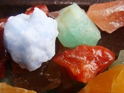 500 Carat Lots of Unsearched Natural Mixed Calcite Rough + a FREE Faceted Gem