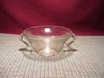 Vintage Hazel Atlas Depression Glass Florentine #2 Clear Cream Soup Bowl