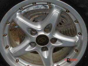 """CSA 7JX15H2 15"""", 5 bolt universal rims/P205/55R15 Goodyear Eagle Cornwall Ontario image 2"""