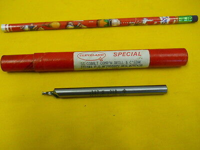 Combo Drill & Countersink .117 X .318 Lathe Mill Tool Bit Ctd Usa Cobalt