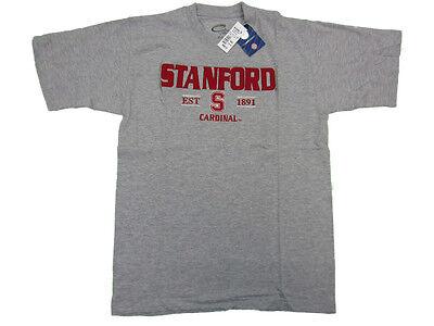 Stanford Cardinal Adult Grey Established 1891 Embroidered T Shirt New