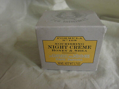 Le Couvent Des Minimes Honey & Shea Night Face Cream 1.7oz Made In France