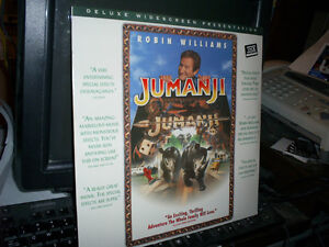 BIG SALE ITEM-JUMANJI -ROBIN WILLIAMS LASERDISC THX  -NTSC WS. NEW