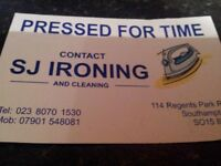 professional Ironing service available