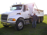 TANDEM DUMP TRUCKS - FOR HIRE - CLASS 3 OWNER/OPERATOR