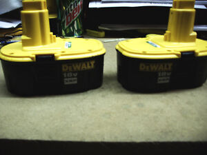 3-DEWALT-DC9096-18V-18-VOLT-XRP-BATTERIES-DW9116-NEVER-BEEN-USED-OUT-OF-PACKAGE
