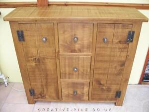 any-size-made-SOLID-WOOD-SIDEBOARD-DRESSER-CABINET-CUPBOARD-RUSTIC-PLANK-PINE
