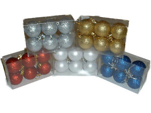 18-PACK-of-CHRISTMAS-TREE-GLITTER-BAUBLES-VARIOUS-COLOURS-AND-SIZES