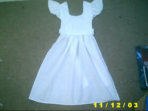 childs victorian edwardian tudor apron white piny maid alice pinafore book peep