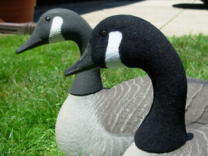 CANADA GOOSE DECOY FLOCKING KIT FOR 25 DECOYS (Black & White Flock included)