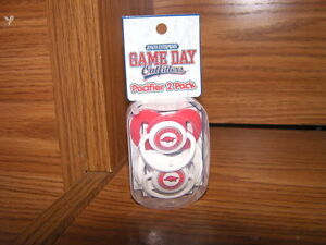 NCAA-Arkansas-Razorbacks-Infant-Baby-2-Pack-Pacifiers-Official-Collegiate-MIP