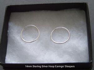 New-Sterling-Silver-Hoop-Earings-Sleepers-SE40014