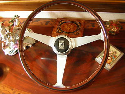 Rolls Royce Wood Steering Wheel Silver Cloud II III  MPW HJM Nardi  NOS New