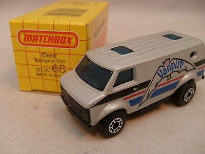 1979 MATCHBOX LESNEY SUPERFAST 68 CHEVY VAN VANPIRE MIB