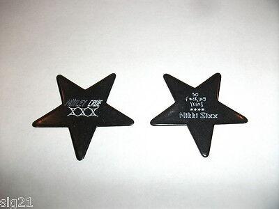 MOTLEY CRUE 30 YEARS Guitar Pick Black Star Nikki Sixx