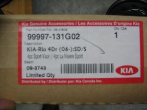 OEM WINDOW VISORS FOR 06-09 KIA RIO  NOT RIO5 PART # 99997-131G.