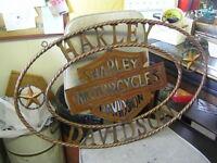 HARLEY DAVIDSON HEAVY METAL MOTORCYCLE TIN SIGN $70