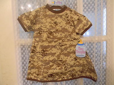 Baby Snap Crotch Panty Desert Camo Camouflage Dress Onesie 100% Cotton 9-12m