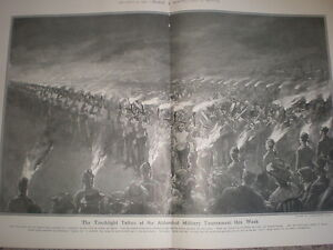 Torchlight-Tattoo-at-the-Aldershot-Military-Tournament-1907-large-old-print