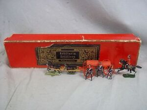 c1900 German Boxed Lead Soldier Artillery Ammunition Caisson Horse Set