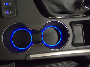 LED Cup Holder Lights - Blue Lights - Fits 2011-2013 Hyundai Sonata Cupholder