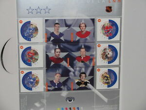 NHL ALL STARS UNIQUE PANE OF SIX STAMPS